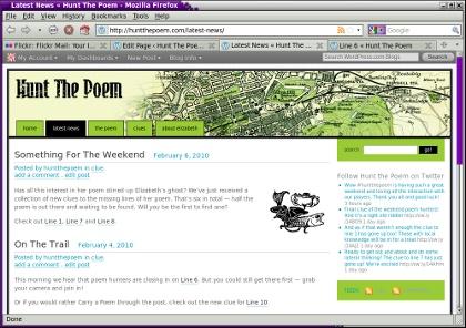 Hunt The Poem web site